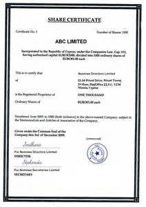 Certificate Template Companies House by Shareholder Director And Offshore For Beginners