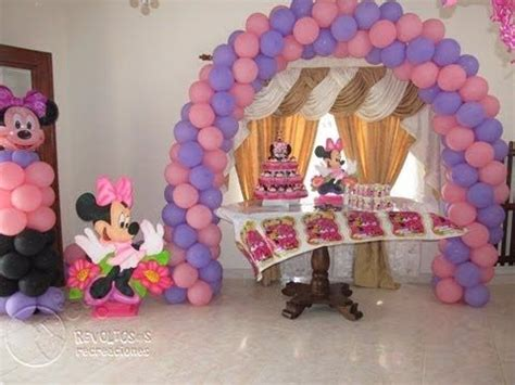 decoracion fiestas infantiles youtube decoracion con globos minnie mouse fiesta infantil 2