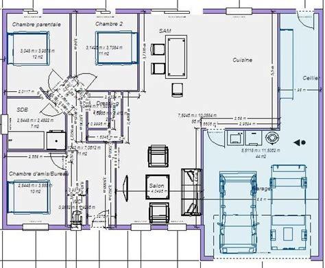 Plan Maison 100m2 Plein Pied Gratuit Que Pensestu De A plan maison plain pied 100m2 votre avis 87 messages