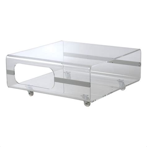 Clear Plastic Coffee Table Eurostyle Matthew Coffee Table In Clear Acrylic Modern