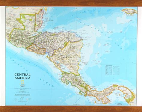 central map central america map by national geographic