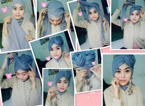 ini dia cara memakai hijab paris yang mudah untuk aktifitas sehari ini dia 5 cara memakai hijab segi empat untuk pesta