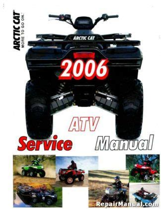 2007 Arctic Cat 400 500 650 700 Atv Service Manual