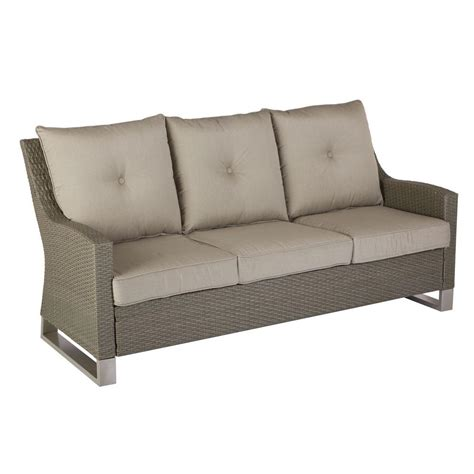 sofa patio hton bay broadview patio sofa with sunbrella spectrum
