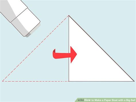 how to make a paper boat wikihow how to make a paper boat with a big sail 12 steps with