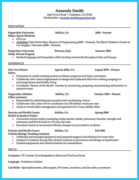 Athletic Trainer Resume by Athletic Trainer Resume Resume Ideas