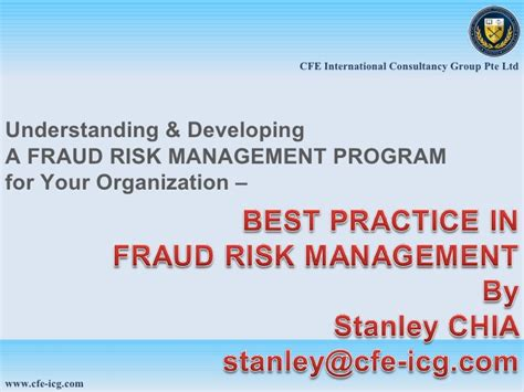 Mba Fraud Management fraud risk management