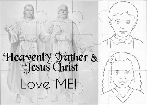 jesus loves me coloring page lds nurture mama fhe heavenly father and jesus christ love me