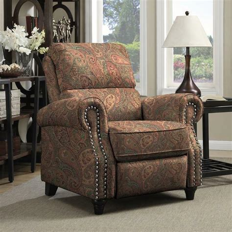 Paisley Living Room Furniture by Prolounger Paisley Push Back Recliner Chair Living Room