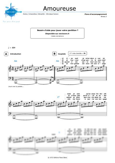 tutorial piano veronique sanson piano sheet music amoureuse v 233 ronique sanson noviscore