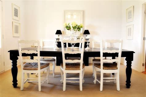 White Dining Room Houzz Black White Dining