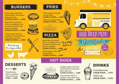 food truck menu template food truck invitation food menu template design