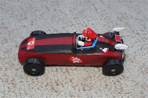 super mario pinewood derby car pinewood derby car
