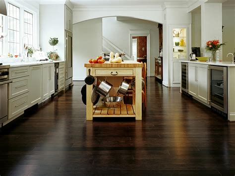 wood kitchen floors bamboo flooring for the kitchen hgtv