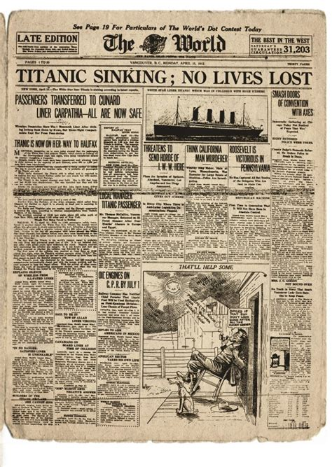 titanic book report quot titanic sinking no lives lost quot and other terribly