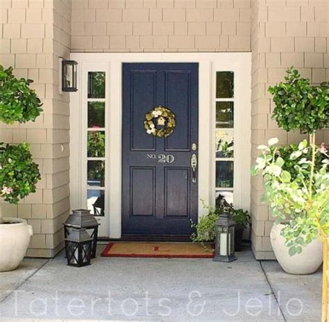 navy blue front door navy front door planter door color