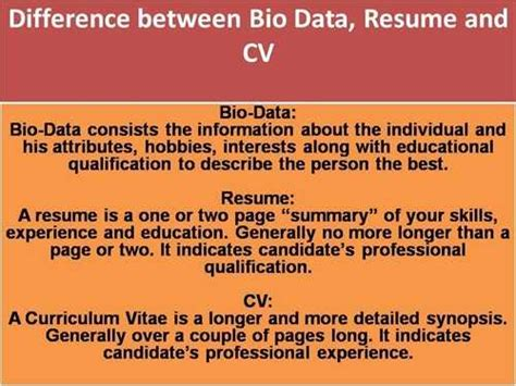 Difference Between Resume And Cv by What Is The Difference Between A Curriculum Vitae And A Resume