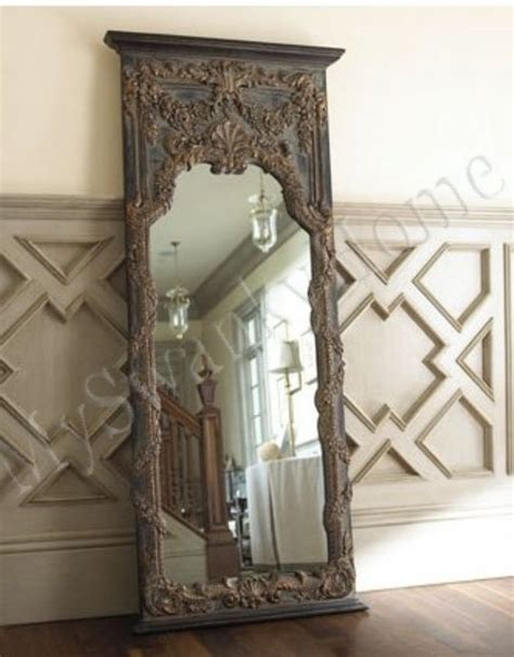 lavish extra large 68 quot baroque floor leaner mirror full length wall antique vine ebay