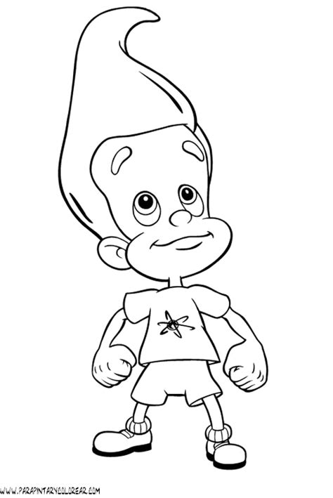 jimmy neutron rocket coloring pages coloring pages