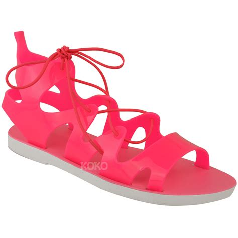 jelly sandals for womens flat lace up jelly sandals ankle high