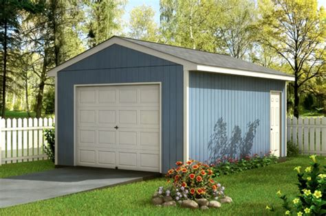 one car garages custom building package kits one car garage