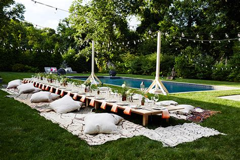 Outdoor Entertaining - outdoor entertaining ideas by eye swoon dinner party 100 layer cake