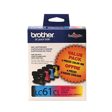 office depot coupons brother ink brother lc61 blackcolor ink cartridges pack of 4 by office