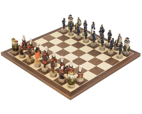 themed chess sets the samurai hand painted themed chess set by italfama