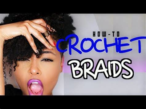 how to curl box braids with hot water a crochet braid style for a twa using no hot water