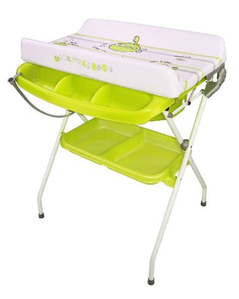 Deluxe Baby Baby Bath Changing Table Combo Green Folding Baby Bath And Change Table Combo