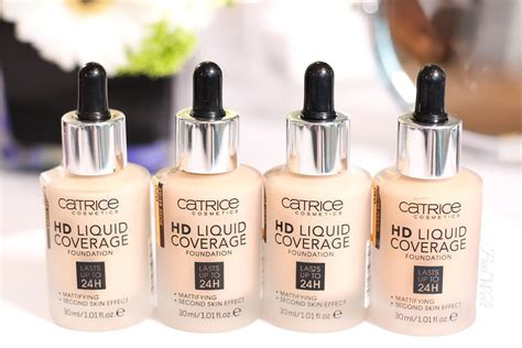 Catrice Cosmetic Hd Liquid Coverage Foundation catrice hd liquid high coverage foundation 24h mattifying second skin effect ebay