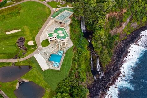 house with waterfall world of architecture impressive waterfall house in hawaii