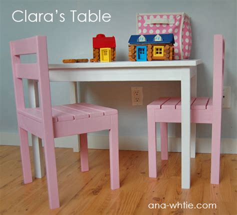 diy kids table and chairs ana white clara table diy projects