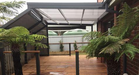 timber skillion roof construction steel frame decking