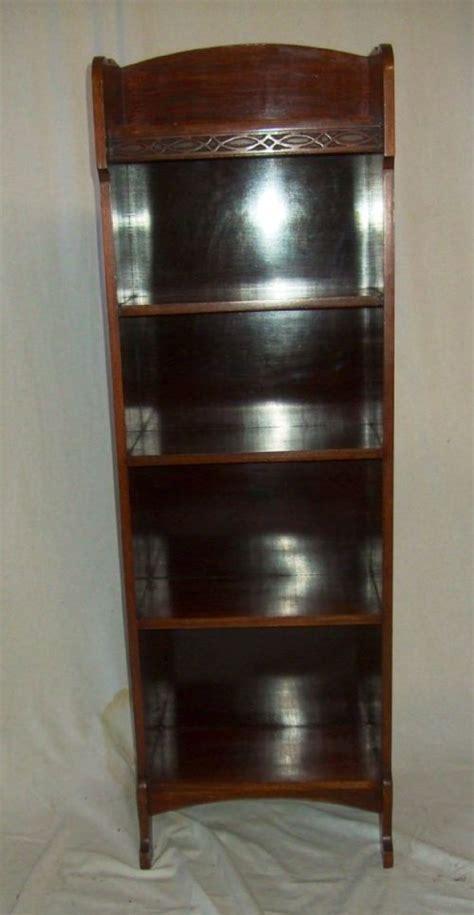 Narrow Mahogany Bookcase Small Narrow Mahogany Open Bookcase 200607 Sellingantiques Co Uk
