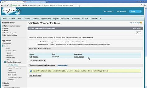 creating workflows in salesforce create simple workflow in salesforce avi