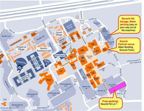 utsa map parking for kimchi festival utsa cus map with driving directions