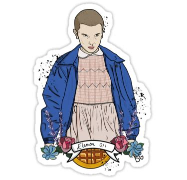 Simpsons Wall Sticke quot stranger things eleven floral quot stickers by brendoodle