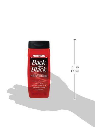 Trim Restorer Back To Black Original mothers 06112 back to black plastic and trim restorer 12