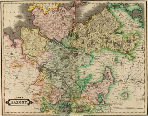 Saxony Germany Birth Records Saxony Germany 1831 Historic Map Reprint By Lizars