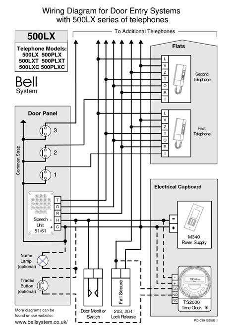 bell systems wiring diagram door entry phone wiring