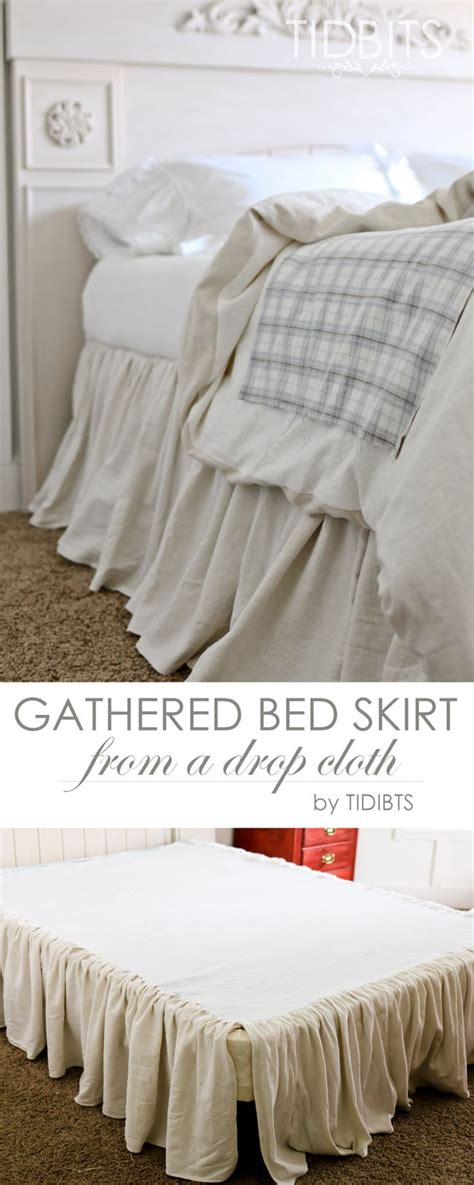 what is a bed skirt gathered bed skirt made from a drop cloth or any fabric of