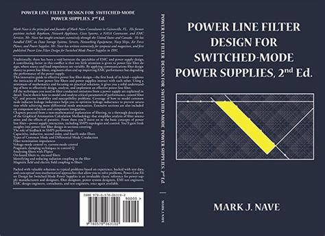 emi filter design third edition books power line filter design for switched mode power supplies