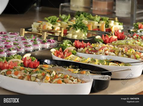 buffet style food in trays a series of restaurant images