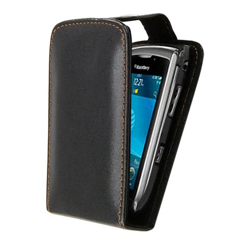 Flipcase Blackberry 9800 black leather flip cover for blackberry torch 9800 mobile phone pouch ebay