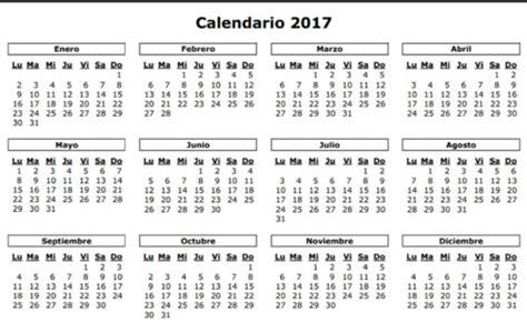 calendario 2017 para imprimir blanco calendarios 2017 y 2018 calendario puro pelo 2017