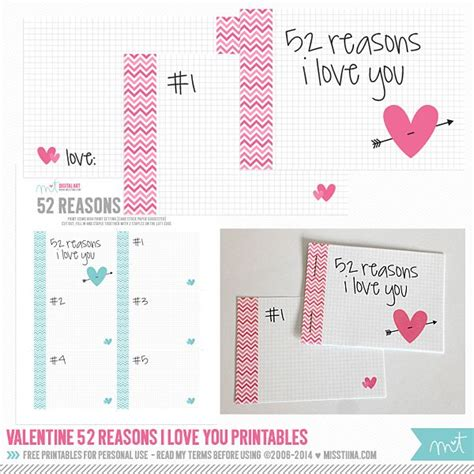 7 Best Images Of 52 Reasons I Love You Printables 52 Reasons Why I Love You Template 52 52 Reasons Why I You Template