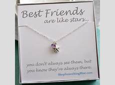 Lucky Star, Best Friend Gift, Sterling Silver, Sentiment Card on Etsy