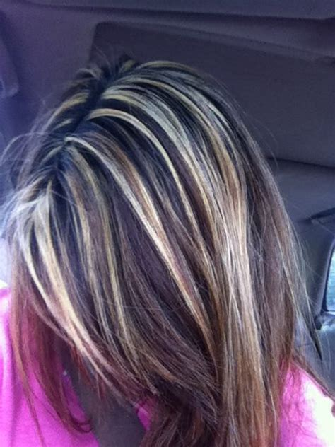 brunette with blonde highlights for women 50 and over blonde highlights for dark brown hair hair ish