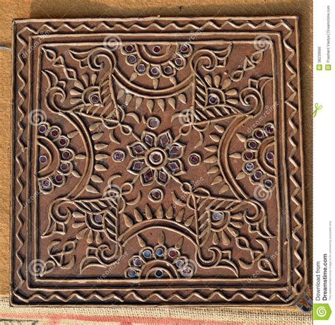 Handmade Lwork - beautiful mud work handmade design royalty free stock